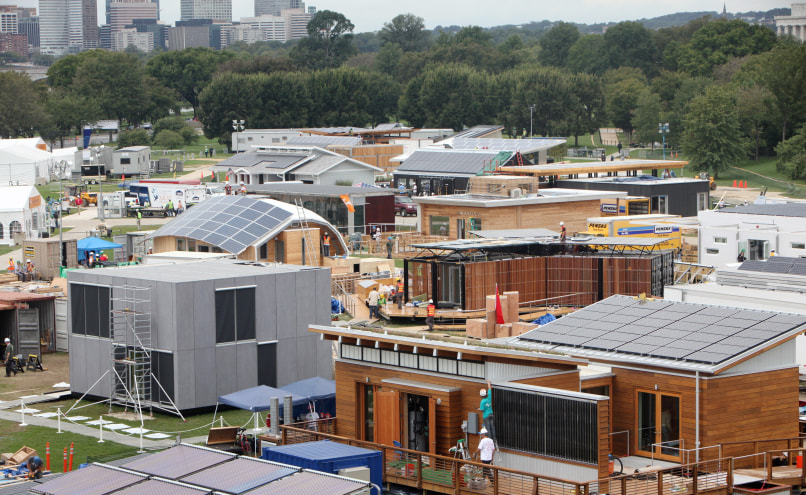 Image: Solar homes being built in DC