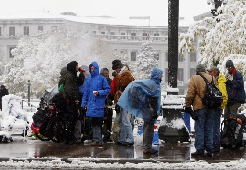 Image: Snow at Occupy Wall Street protest in Denver