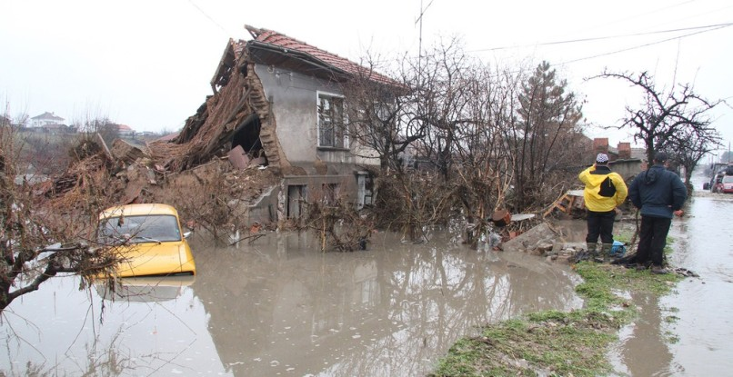 Image: Destroyed house in Bisser, Bulgaria
