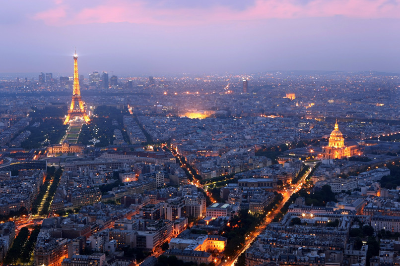 Image: Paris at night