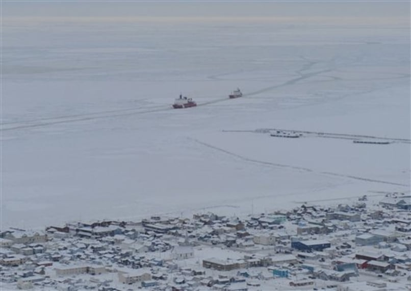 Images: Ships off coast of Nome