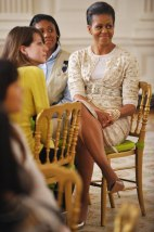 Image: Michelle Obama on day of state dinner