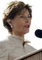 Image: Former first lady Laura Bush
