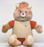 Teddy Ruxpin bear, w. built-in microchip
