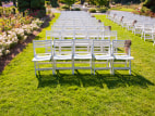 Image: Empty chairs at a wedding