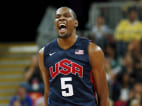 Image: Durant of the U.S. celebrates after making a three-point basket