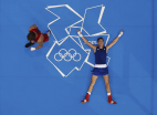 Image: France's Alexis Vastine lays on the canvas after becoming upset with the decision giving the Men's Welter (69kg) quarter-final boxing match to Ukraine's Taras Shelestyuk at the London Olympic Games