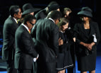 Image: Memorial Service For Michael Jackson Draws Thousands Of Fans And Mourners