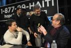Image:  Mark Wahlberg, George Clooney, and Jack Nicholson