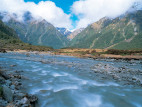 Image: The fast running rivers of the Mount Aspiring National Park