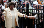 Image: Katherine Jackson, mother of pop star Michael Jackson, attends a ceremony at the family's old home in Gary, Indiana