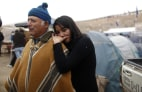 Image: Relatives of trapped miner