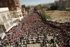 Image: Yemenis attend a protest calling Preside