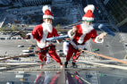 Image: TOPSHOTS-JAPAN-CULTURE-CHRISTMAS-SANTA