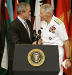 President Bush and Admiral William J Fallon