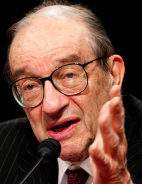FILE PHOTO OF FED CHAIRMAN ALAN GREENSPAN AT CONGRESSIONAL HEARING