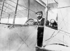 Farman in prize-winning 1908 plane