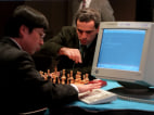Kasparov plays chess against Deep Blue