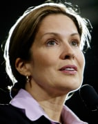 File picture shows Dana Reeve introducing Democratic presidential nominee Kerry in Ohio