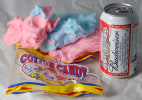 COTTON CANDY AND BUDWEISER