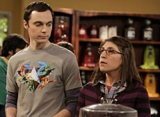 "Image: Jim Parsons, Mayim Bialik on ""Big Bang Theory"""