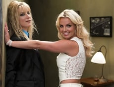 "Image: Britney Spears and Heather Morris on ""Glee"""