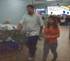 Image: Surveillance video purportedly shows Jeffrey Easley and Brittany May Smith at a Salem Wal-Mart