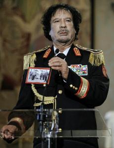 Image: Libya's leader Moammar Gadhafi