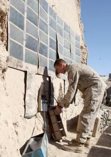 Image: Solar panels at Army base
