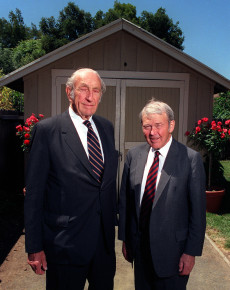 Image: David Packard, left, and William Hewlett.