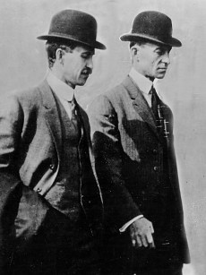 Image: Orville, left, and Wilbur Wright.