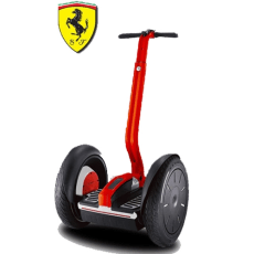 Image: This Segway i2 doesn't appear to be any different from the stock version, save for a red paint job, Ferrari logo, leather handlebar bag and a $10,200 price tag.