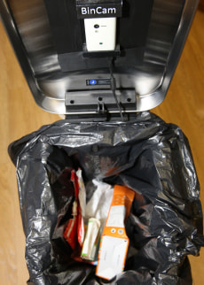 Image: Camera inside garbage bin