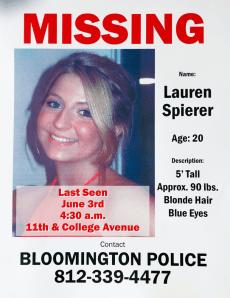 Image: Lauren Spierer, who was last seen on June 3, 2011.