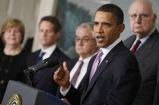 Image: Barack Obama, Christina Romer, Timothy Geithner, Barney Frank, Paul Volcker
