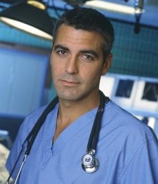 """Image: George Clooney on """"ER"""""""