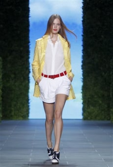 Image: A shorts-and-jacket ensemble from the Tommy Hilfiger spring 2011 collection.