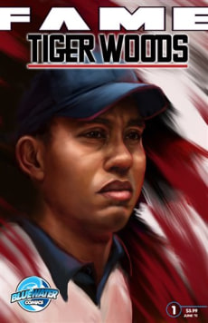 Image: Tiger Woods on comic book cover