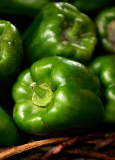 Image: Green bell peppers