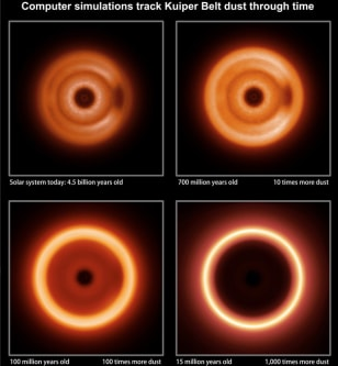 Image: Infrared snapshots of Kuiper Belt dust