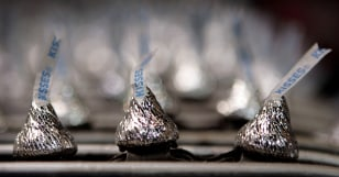 Image: Hershey's Chocolate Kisses at Hershey's Chocolate World in Hershey, Pa.