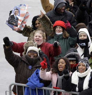 Image: People at Barack Obama's inauguration
