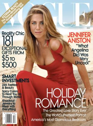 Image: Jennifer Aniston on Vogue cover