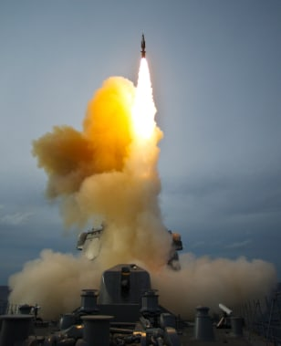 Image: A missile is launched in Japan