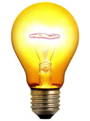 Science fiction book with light bulb on cover?