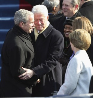 Image: Al Gore, Bill Clinton, George W. Bush, Laura Bush