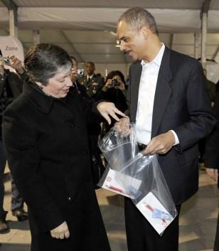 Image: Janet Napolitano, Eric Holder