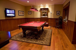 Image: Man cave with pool table
