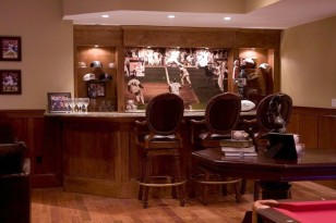 Image: Man cave with sports bar