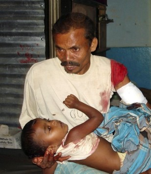 Image: Tamil man and son